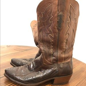 Lucchese 1883 Ostrich Boots sz 9 EE